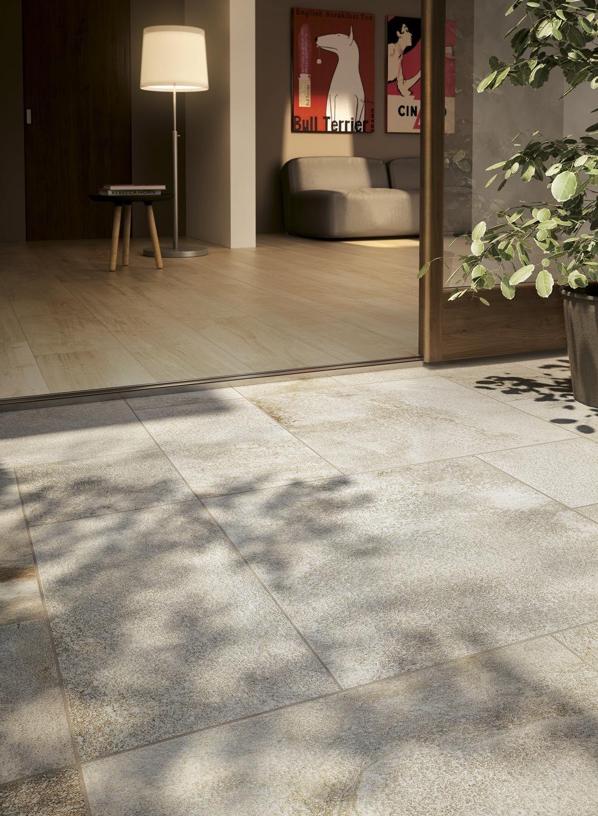 Pavimento per esterni in gres porcellanato smaltato stoneway barge antica ragno - Elemento a elle piastrelle ...