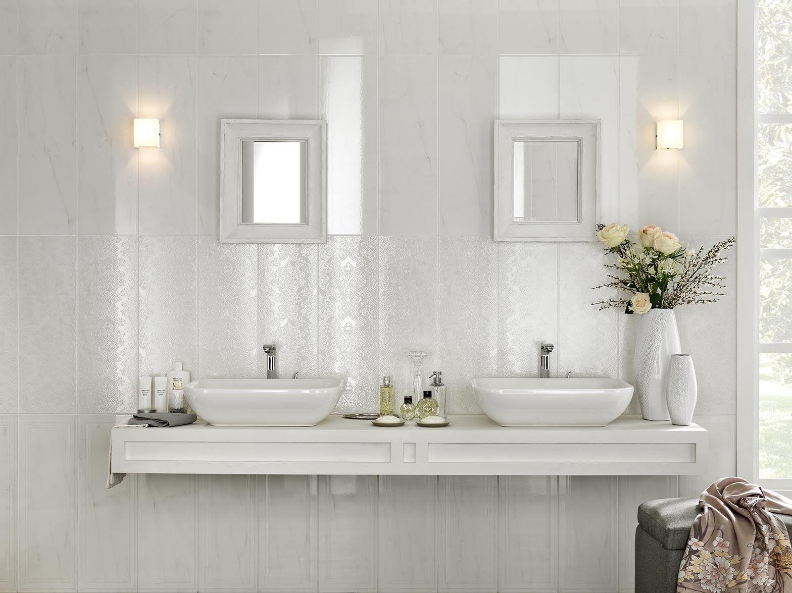 Pavimento rivestimento in gres porcellanato smaltato effetto marmo marbleline by marazzi - Rivestimento bagno effetto marmo ...