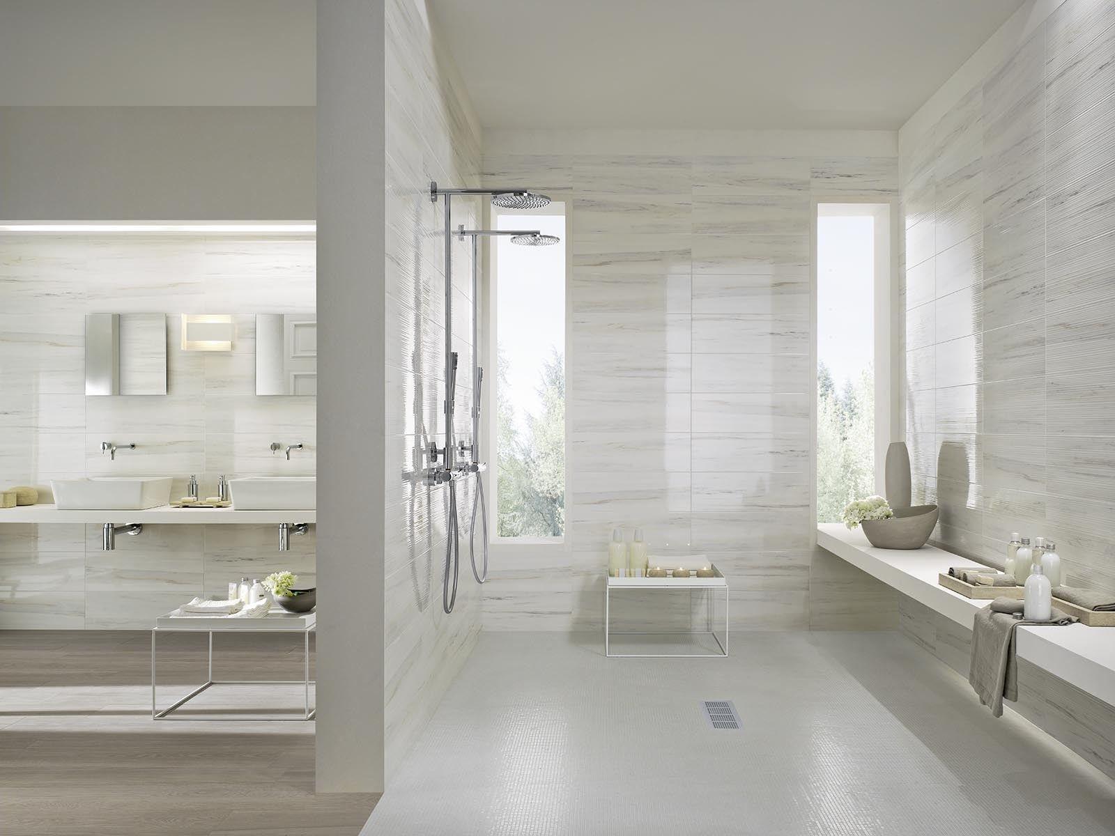 bagni con pavimebto nero gres porcellanato : Pavimento/rivestimento in gres porcellanato smaltato effetto marmo ...