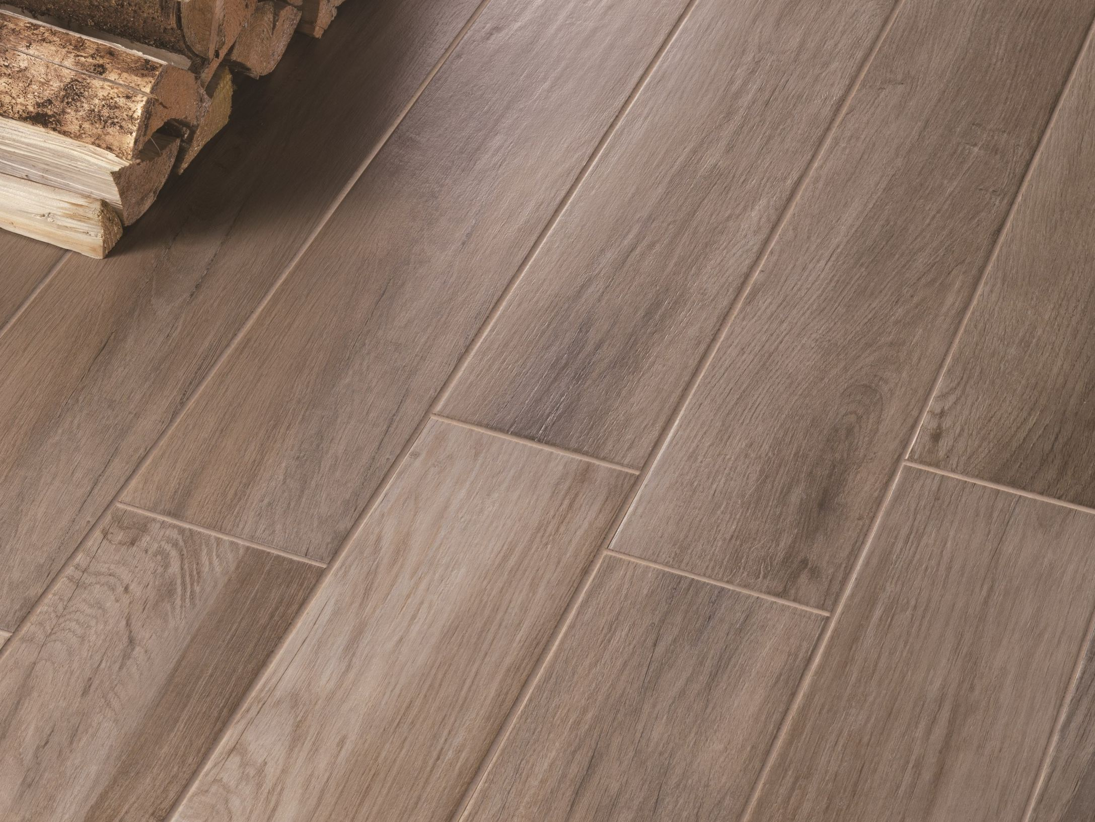 Glazed stoneware flooring with wood effect treverkmood by for Marazzi tile