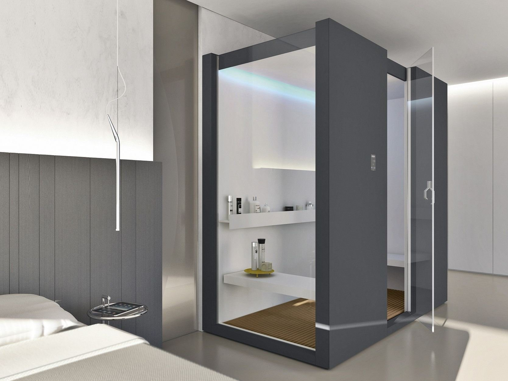 dampfbad mit dusche h one by makro design giulio gianturco. Black Bedroom Furniture Sets. Home Design Ideas
