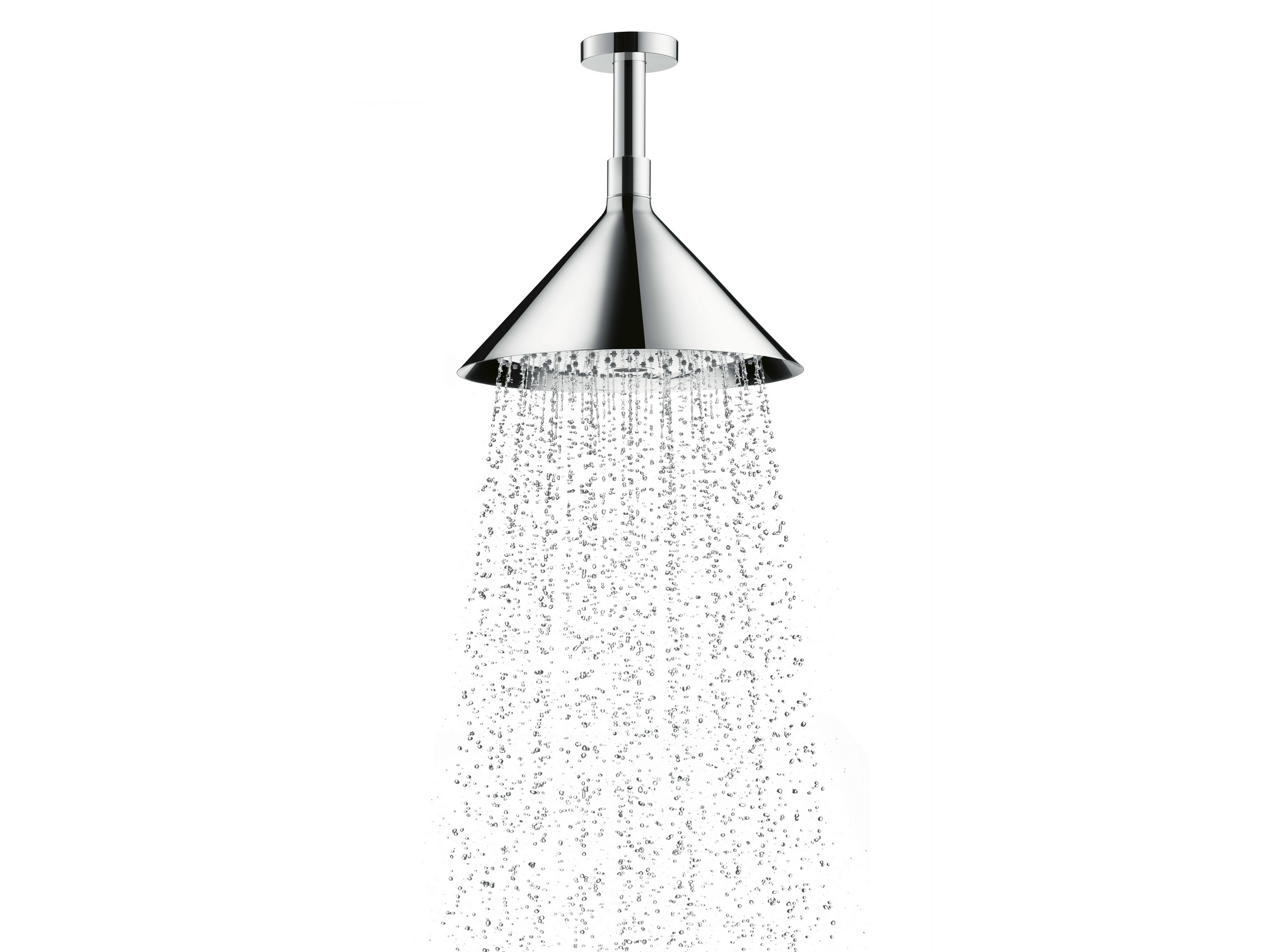 axor overhead shower ceiling mounted overhead shower by hansgrohe design front