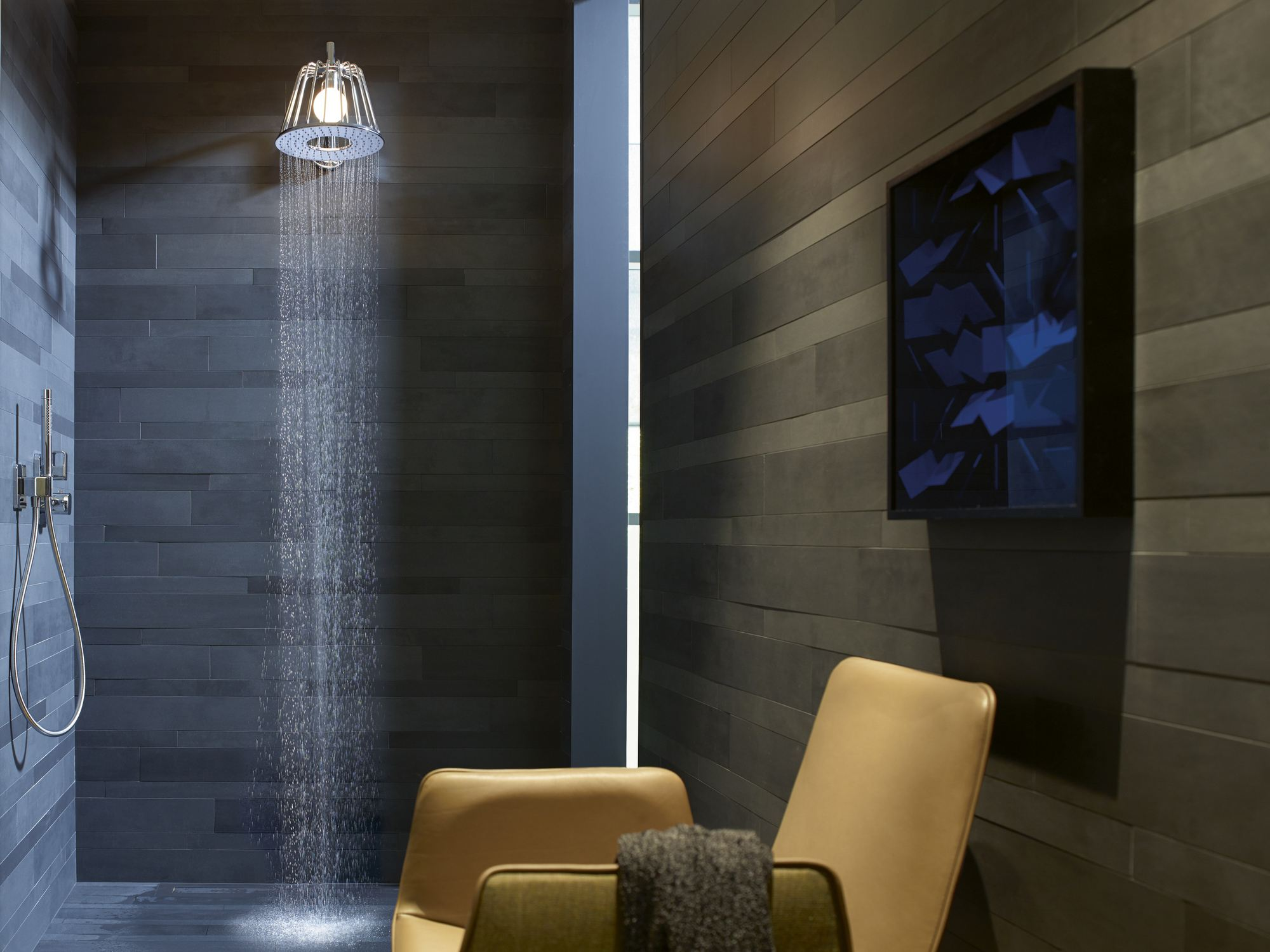 axor lamp shower nendo rain shower by hansgrohe design nendo. Black Bedroom Furniture Sets. Home Design Ideas