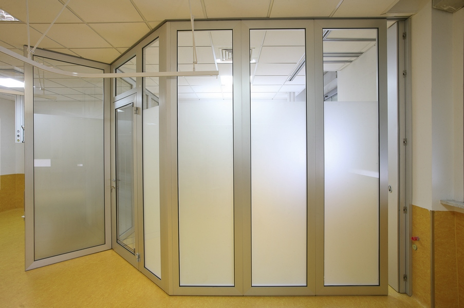 Acoustic glass operable wall moveable soundproof glass for Glass wall partitions residential