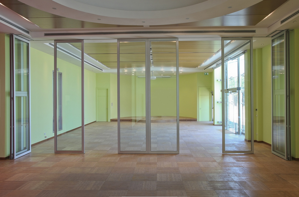 Acoustic glass operable wall moveable soundproof glass for Moving glass wall