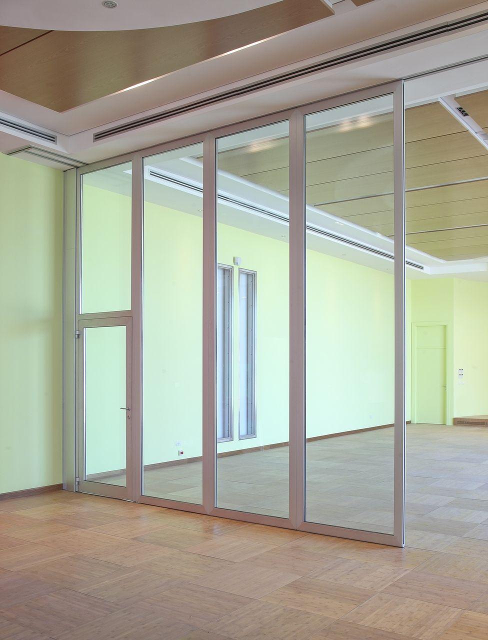 Mampara divisoria ac stica m vil de vidrio moveable - Mampara de vidrio ...