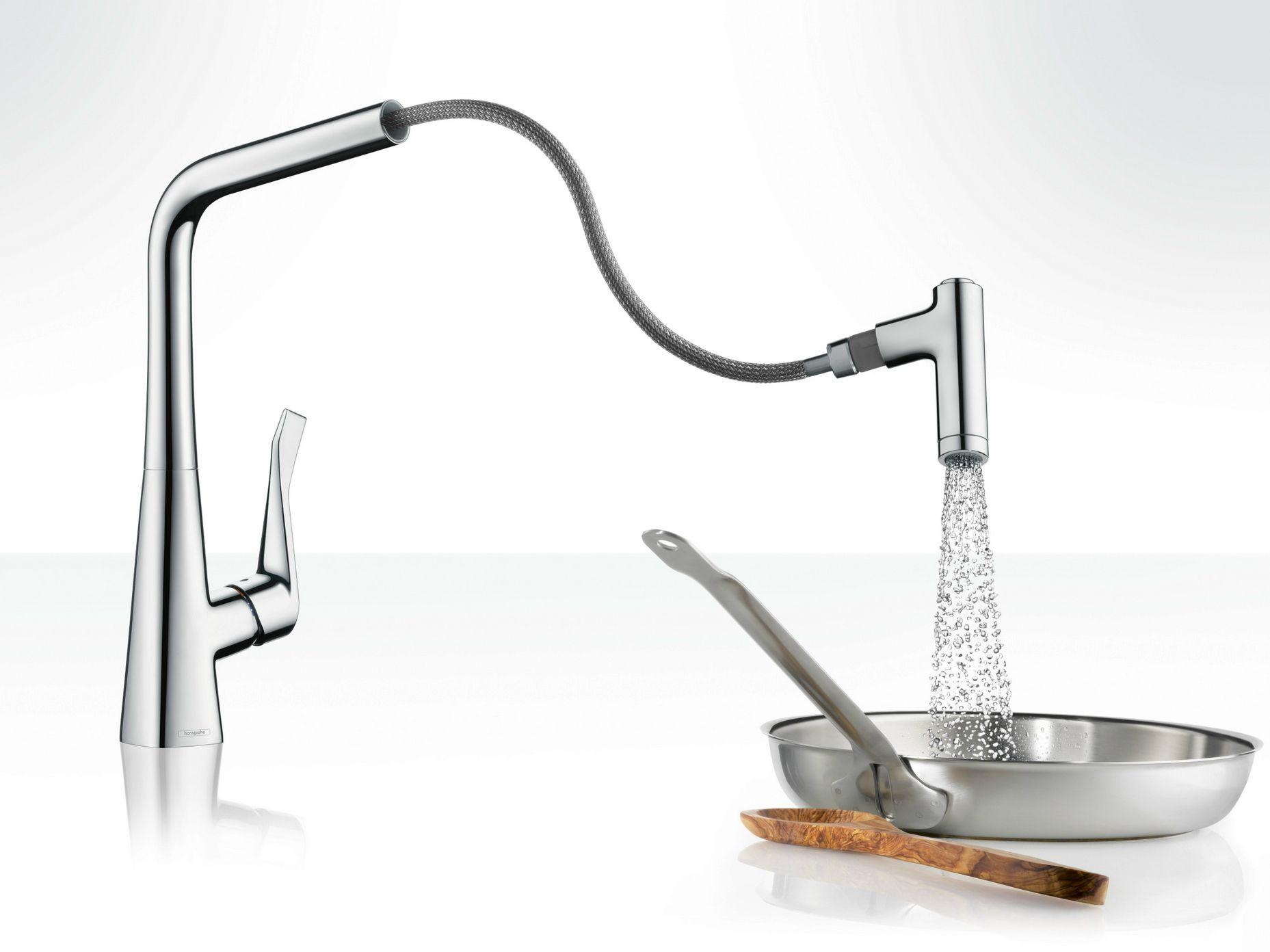 Metris robinet de cuisine chrome by hansgrohe design - Robinet cuisine hansgrohe ...