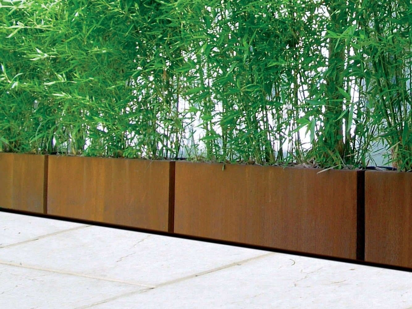 blumenkasten aus corten bamb by metalco design metalco. Black Bedroom Furniture Sets. Home Design Ideas