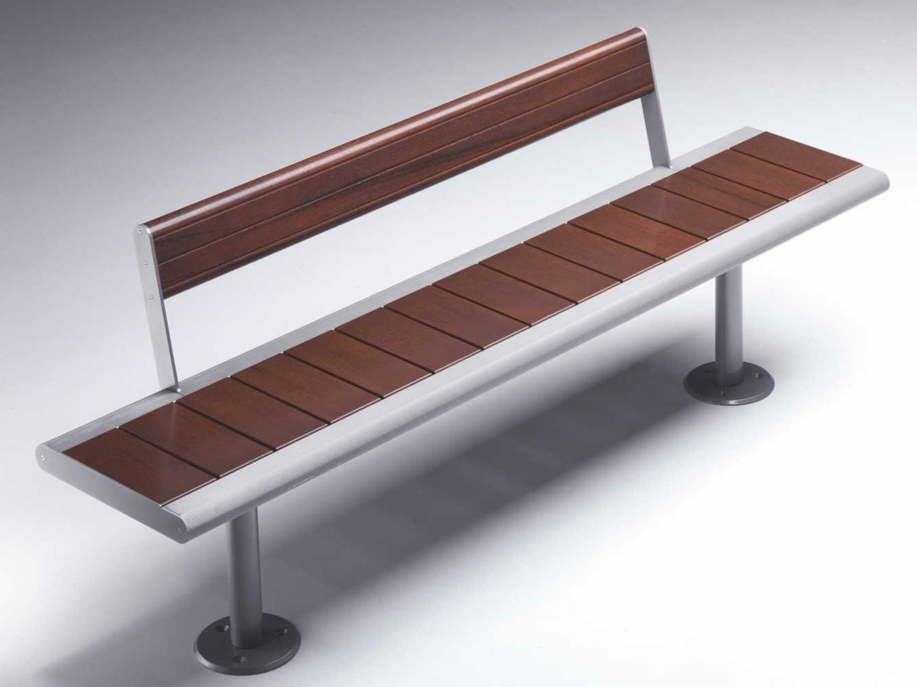 Contemporary Style Stainless Steel Bench With Back Gea By Metalco Design Staubach Kuckertz