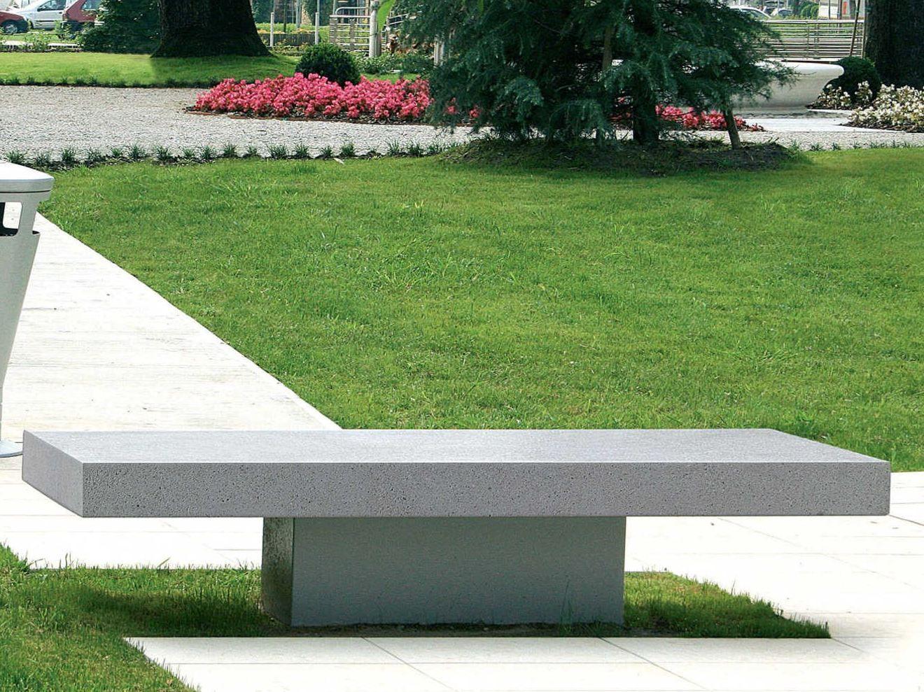 banc en pierre reconstitu e sans dossier agata by metalco design alfredo tasca. Black Bedroom Furniture Sets. Home Design Ideas