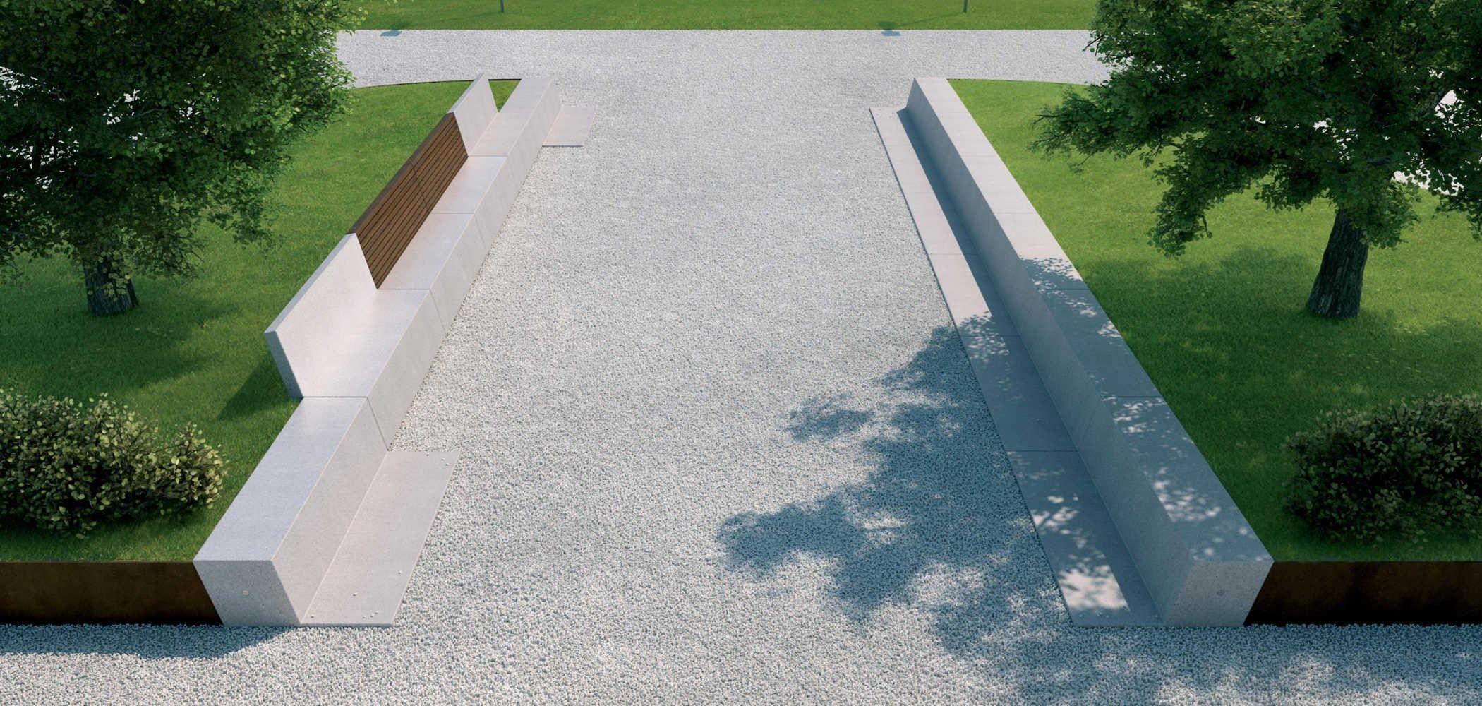Panchina in pietra ricostruita anastasio by metalco design for Metalco arredo urbano