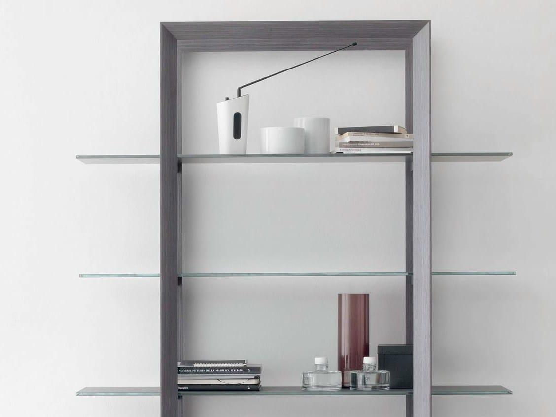 Libreria con struttura impiallacciata in rovere grigio UPPER by ITALY ...