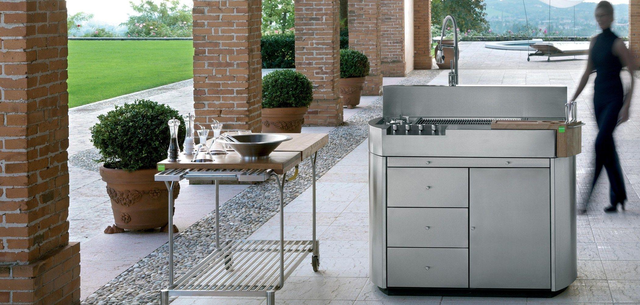 Cucina da esterno cheope by metalco design alfredo tasca - Cucina da esterno ...
