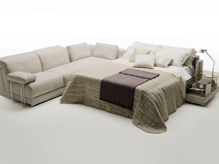 Joe divano angolare by milano bedding design alessandro elli for Divano letto milano