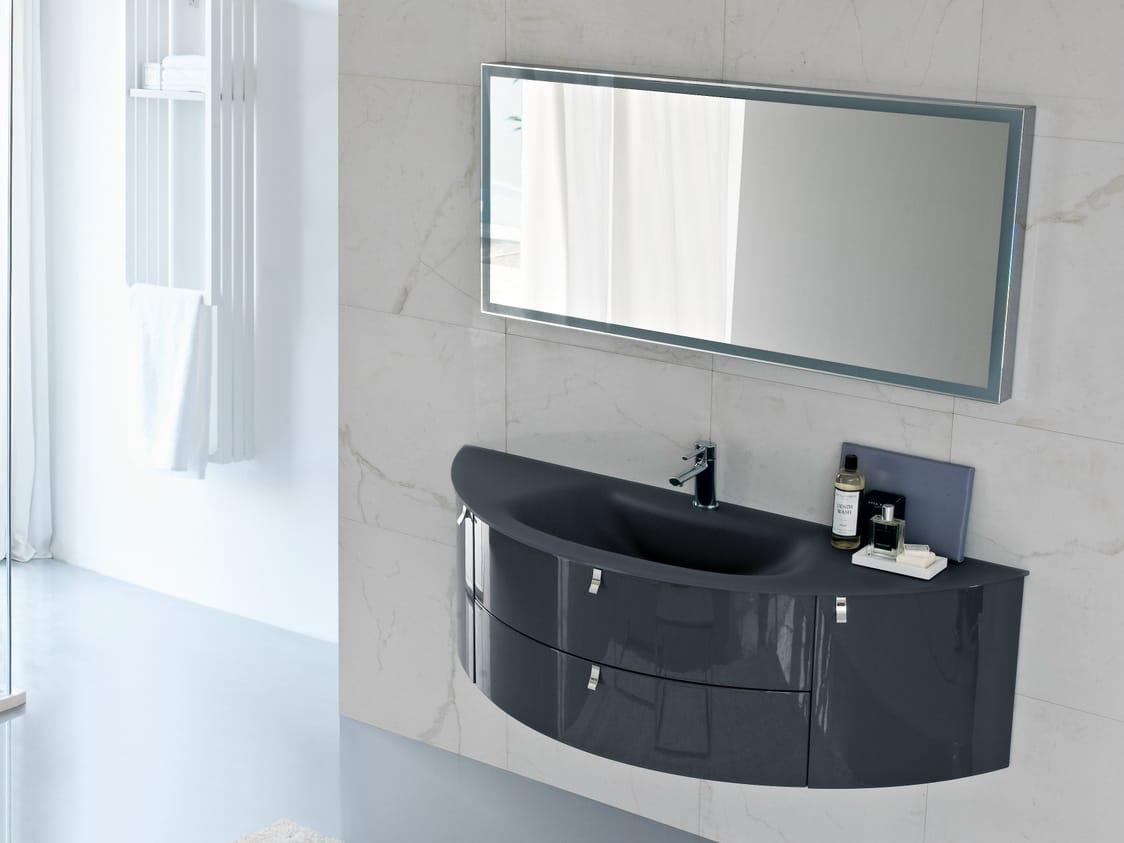 Mobile lavabo laccato con cassetti COMP MFE16 by IdeaGroup