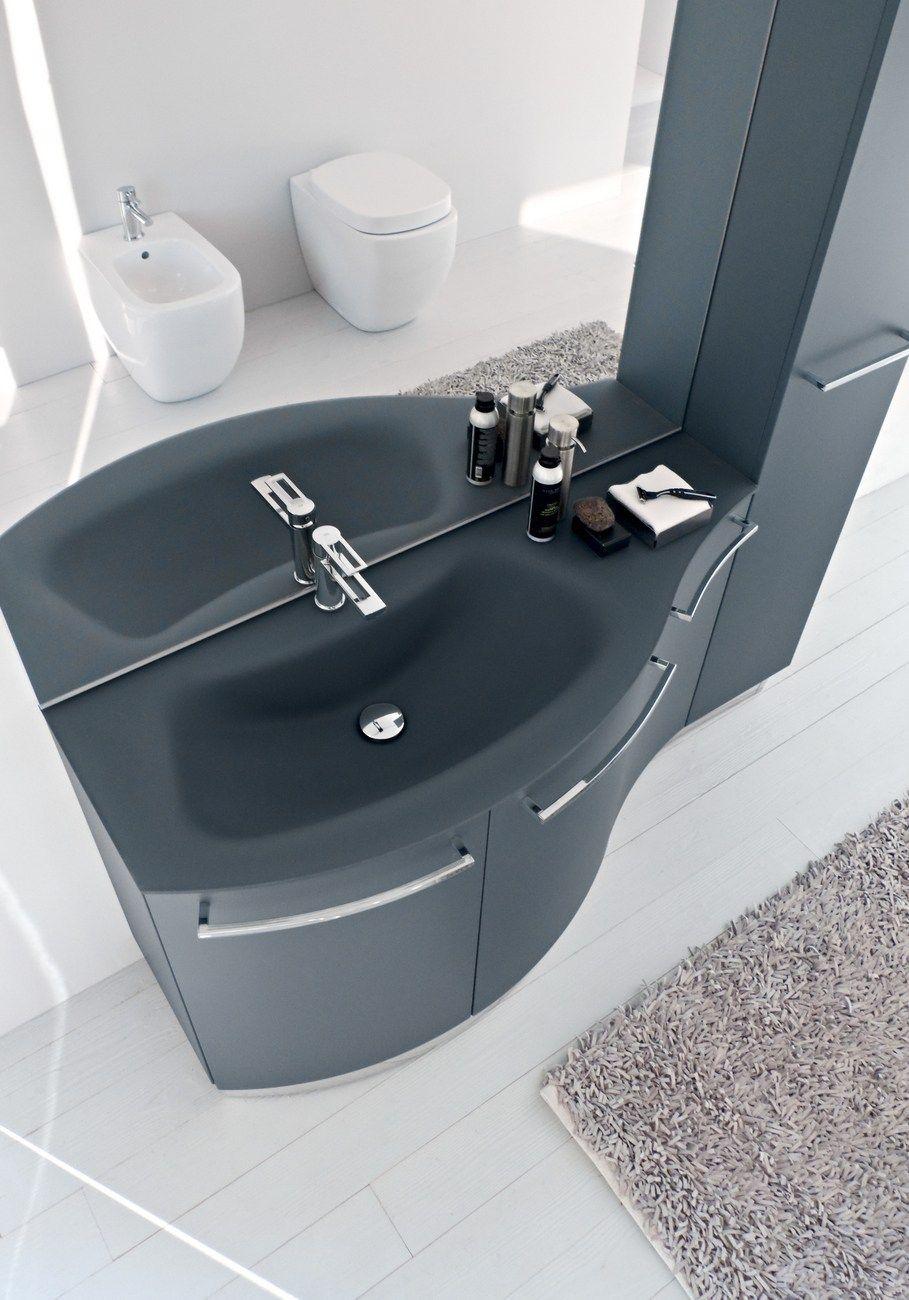 Meuble sous vasque avec portes avec rangement comp mfe18 by ideagroup - Meuble sous vasque fly ...