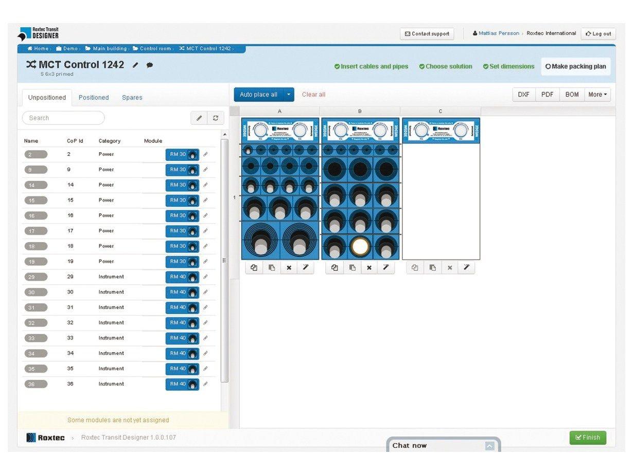 Software Per La Progettazione Dei Passaggi Di Cavi E Tubi ROXTEC  #134867 1232 924 Software Per La Progettazione Di Cucine