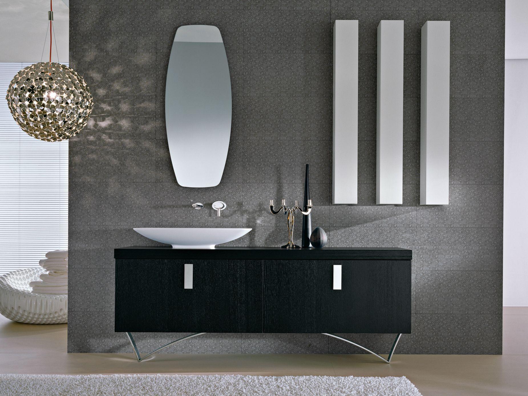 Mueble bajo lavabo de pi con espejo comp te5 colecci n - Mueble lavabo con pie ...