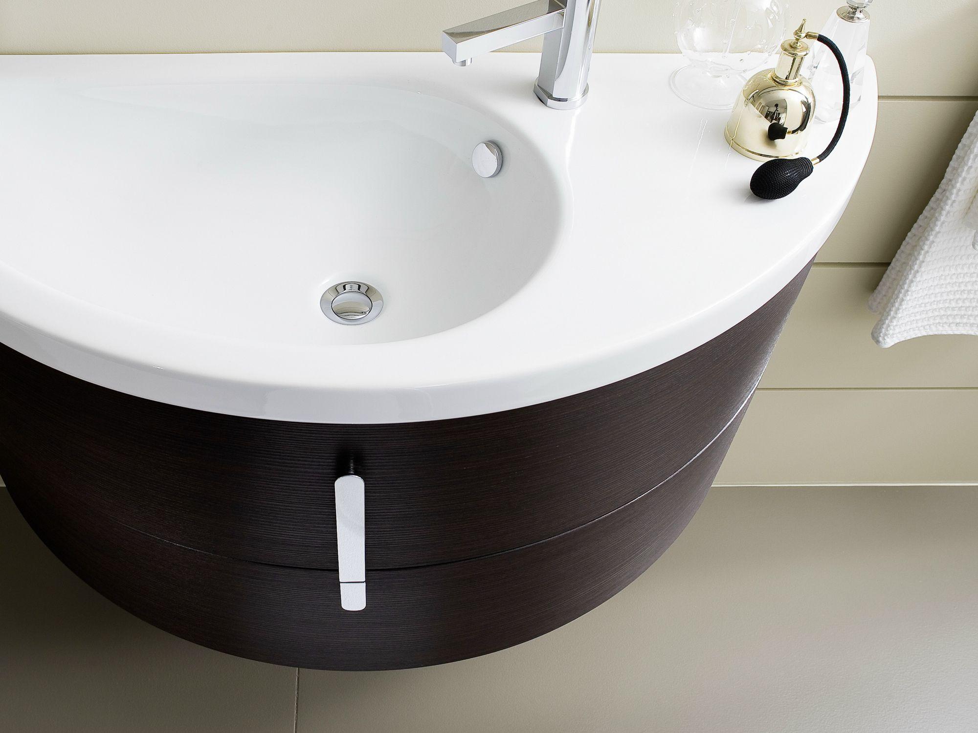 Meuble sous vasque avec tiroirs comp m09 by ideagroup - Meuble sous vasque arrondi ...