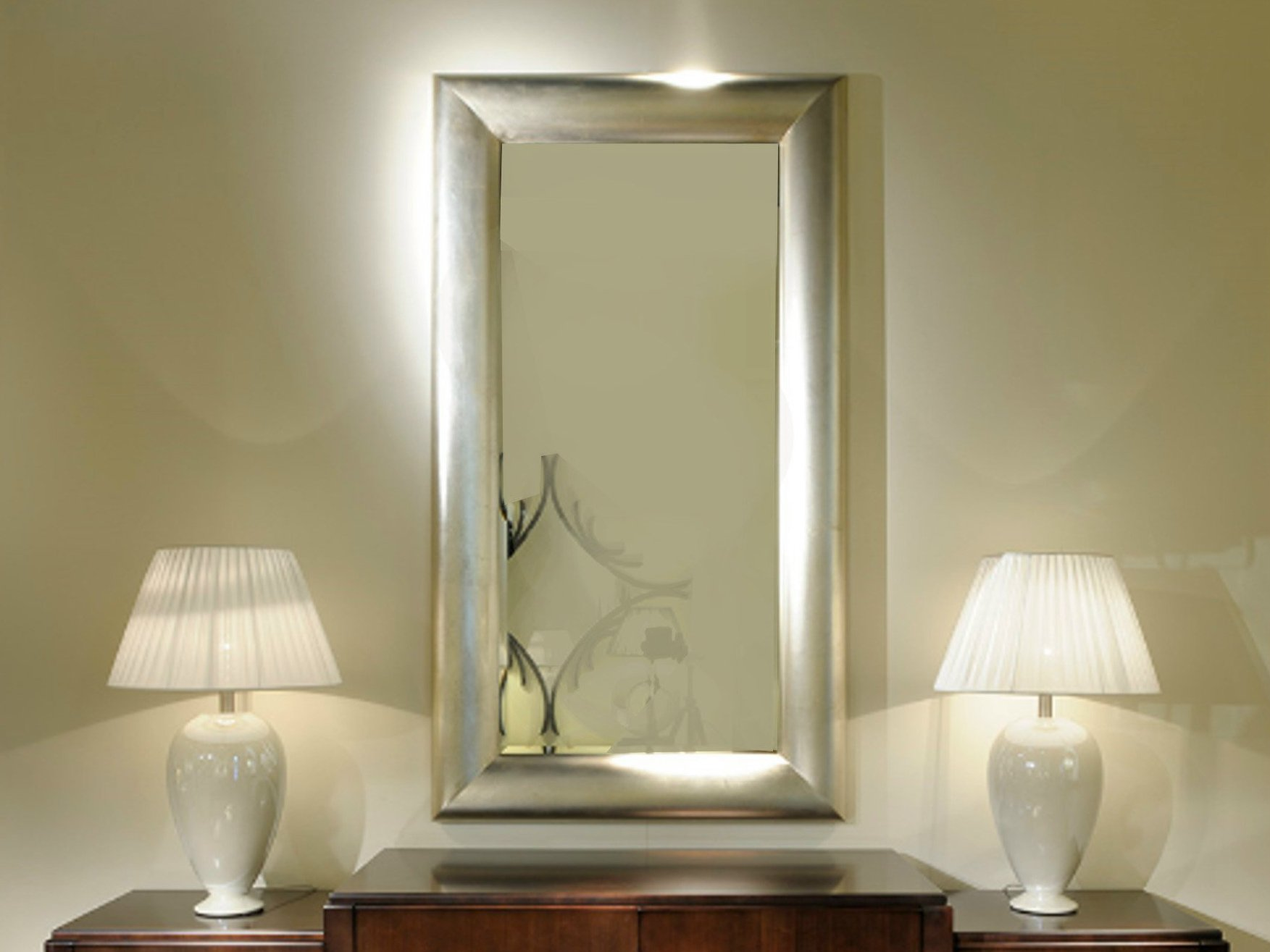 Art deco milano miroir rectangulaire by transition by casali for Deco avec miroir mural