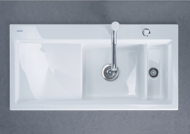 Kiora 60 r vier encastrable by duravit italia design for Evier encastrable ceramique