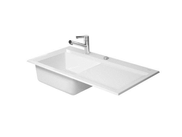 Kiora 50 l vier int gr by duravit italia design for Evier encastrable ceramique