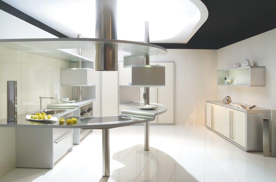 Cucina in alluminio con penisola acropolis by snaidero - Mobili snaidero majano ...