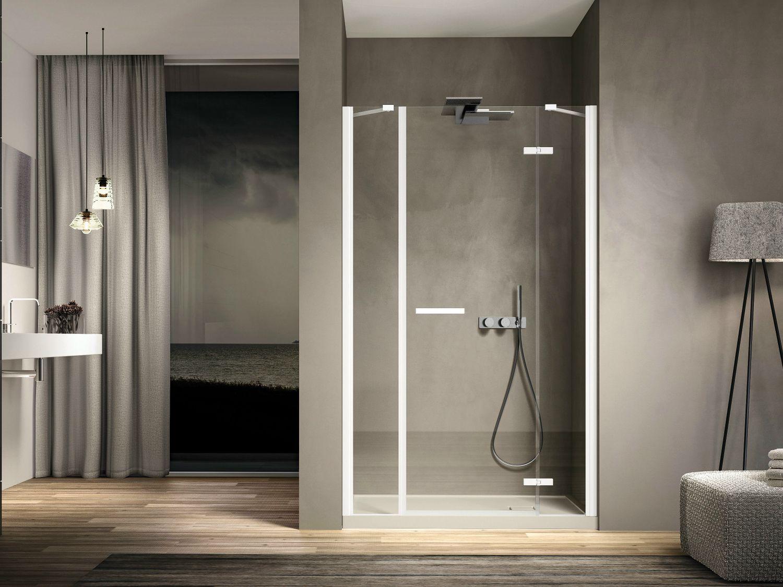 Box doccia a nicchia rettangolare in vetro smart 02 by - Illuminazione per doccia ...