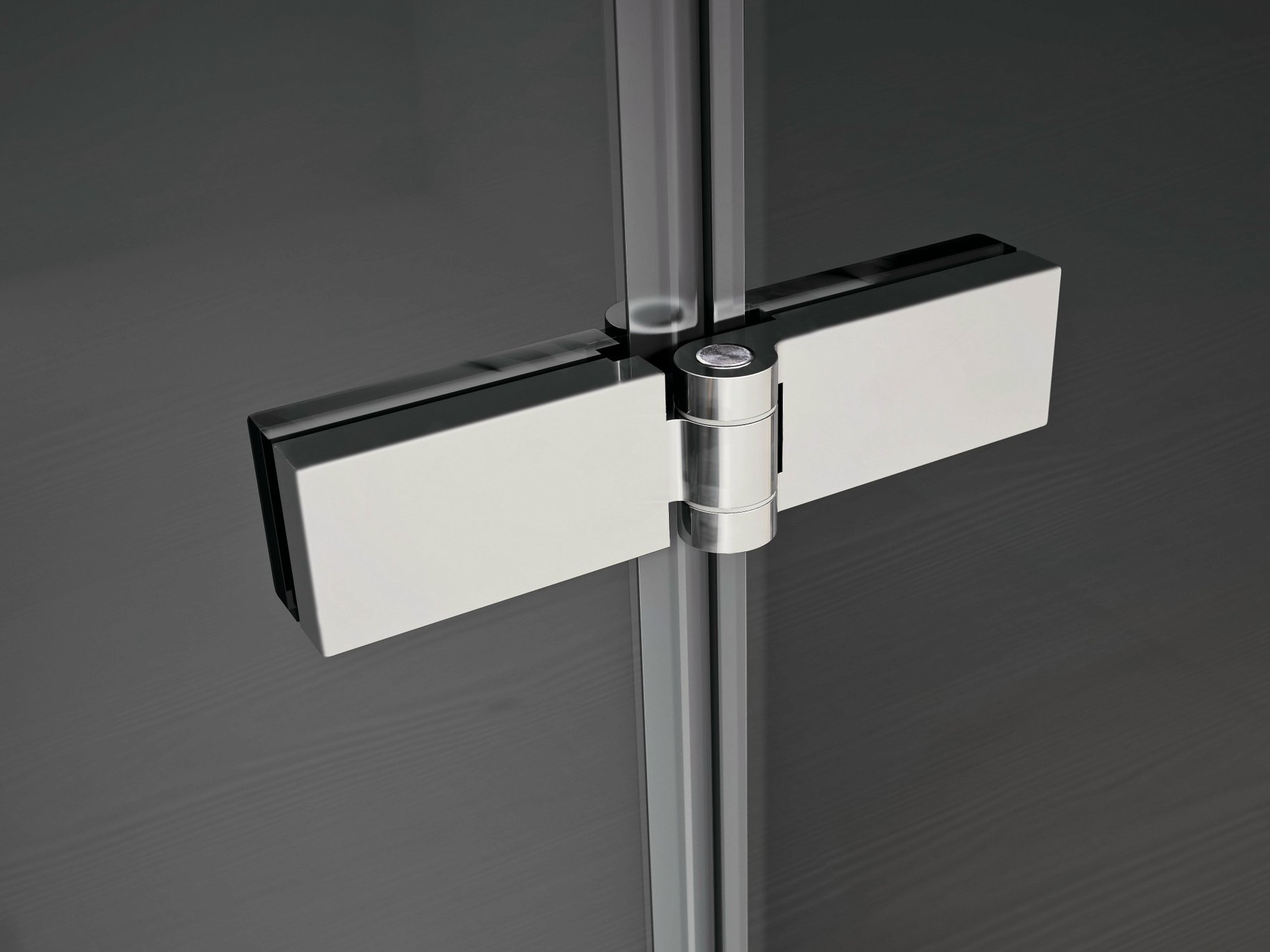 Smart for glass doors cabinet hinge by ideagroup for Glass cabinet hinges
