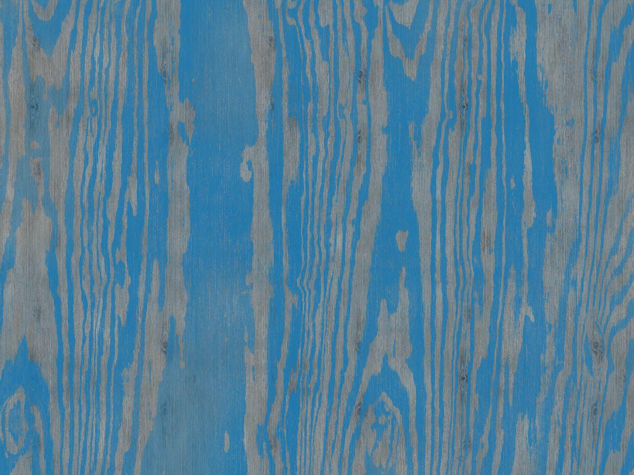 Papier peint aspect bois BLUE ESSENCE by Wall&decò design Lorenzo De ...