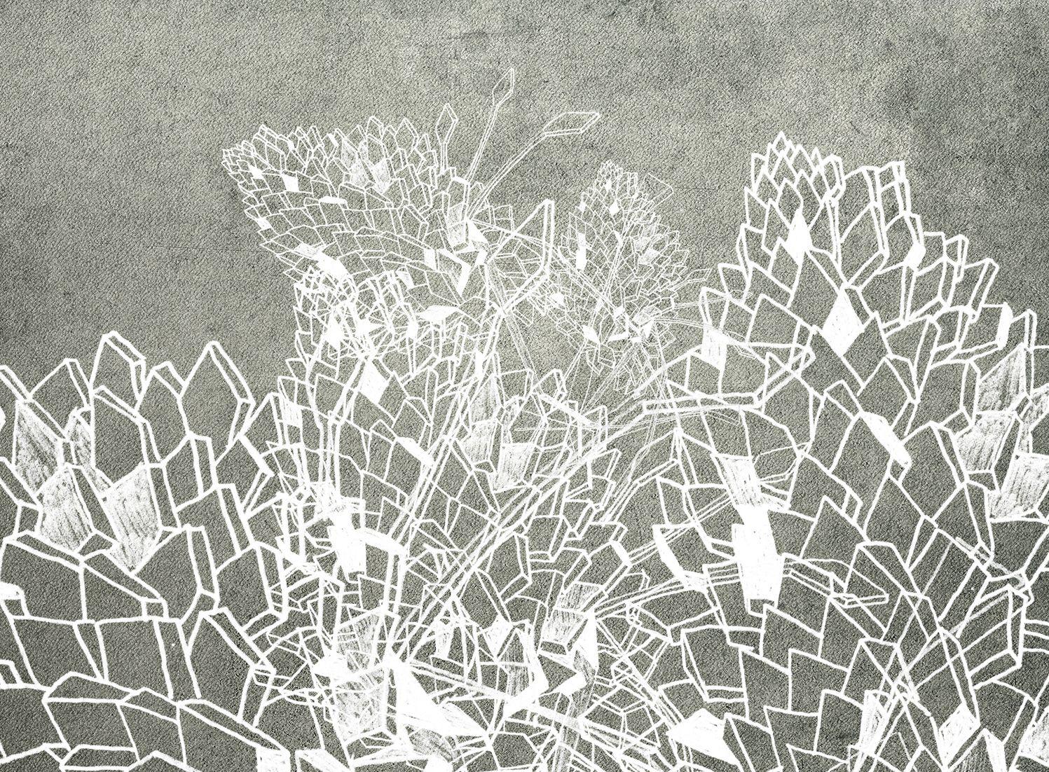 Carta da parati con motivi floreali drawing collezione for Carta da parati wall deco