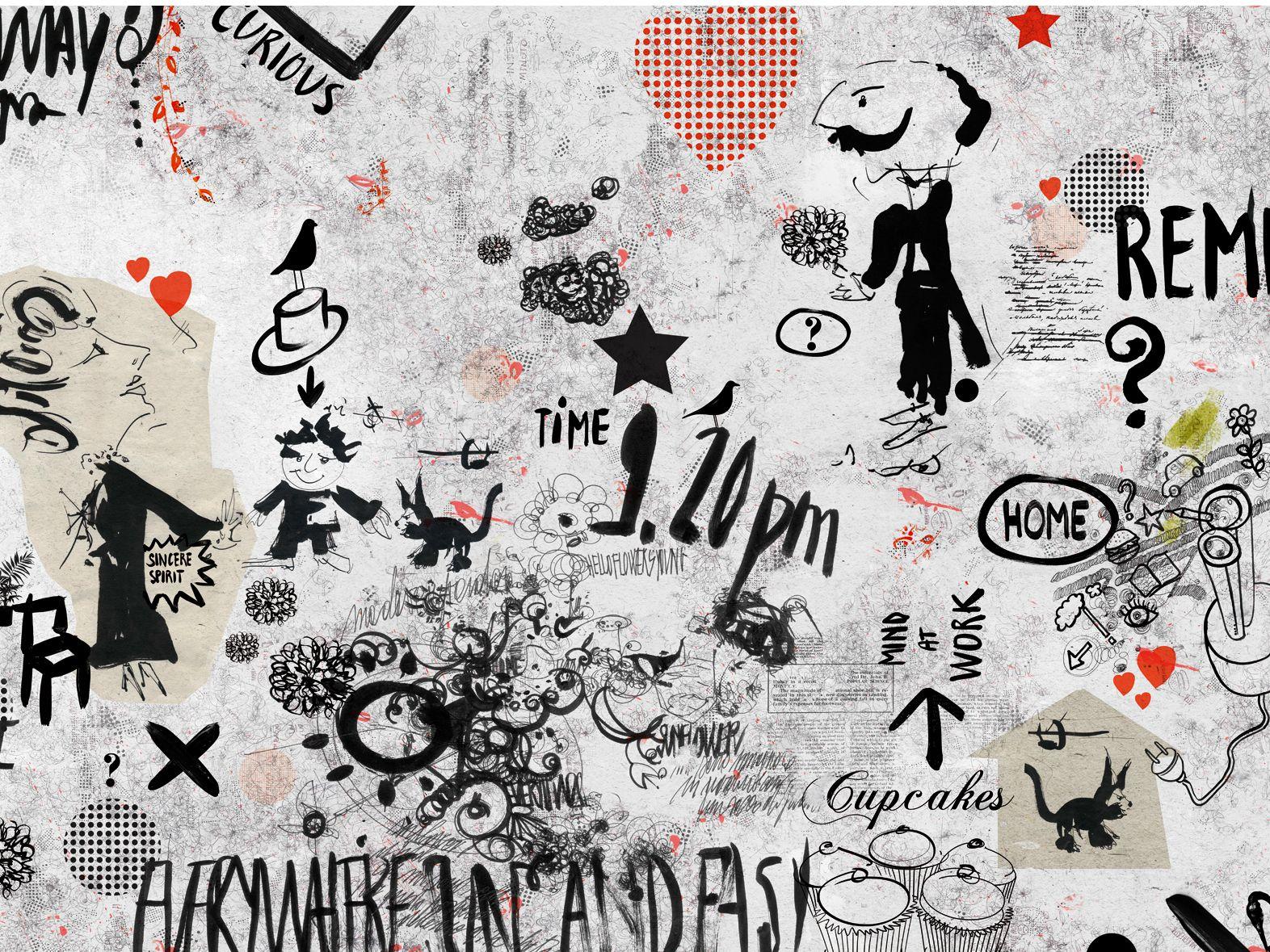 Carta da parati con scritte MONSIEUR DIDOT by Wall&decò design Lorenzo De Grandis