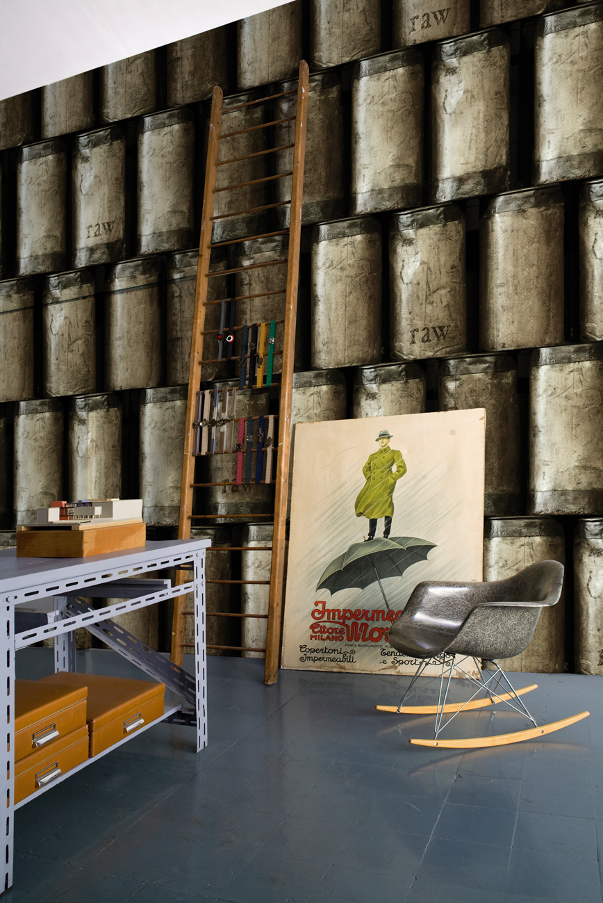 trompe l 39 oeil wallpaper raw by wall dec design paolo badesco. Black Bedroom Furniture Sets. Home Design Ideas