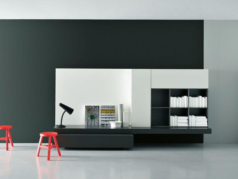 Modulare wohnwand modern by porro design piero lissoni for Wohnwand modern design