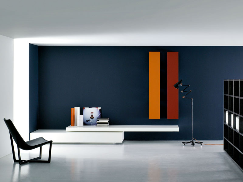 modulare wohnwand modern by porro design piero lissoni. Black Bedroom Furniture Sets. Home Design Ideas