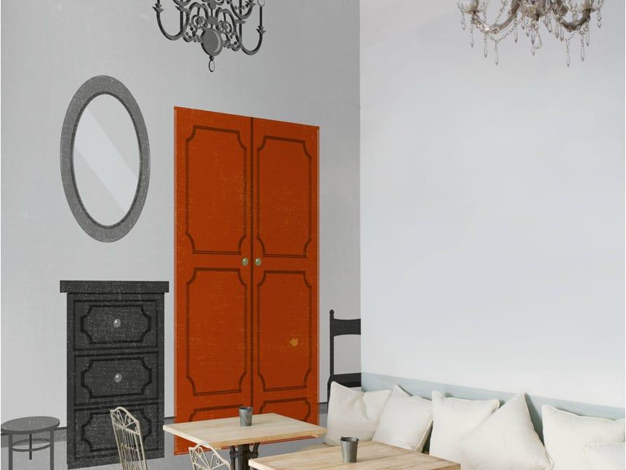 trompe l 39 oeil wallpaper accessorized by wall dec design alessandro gottardo shout. Black Bedroom Furniture Sets. Home Design Ideas