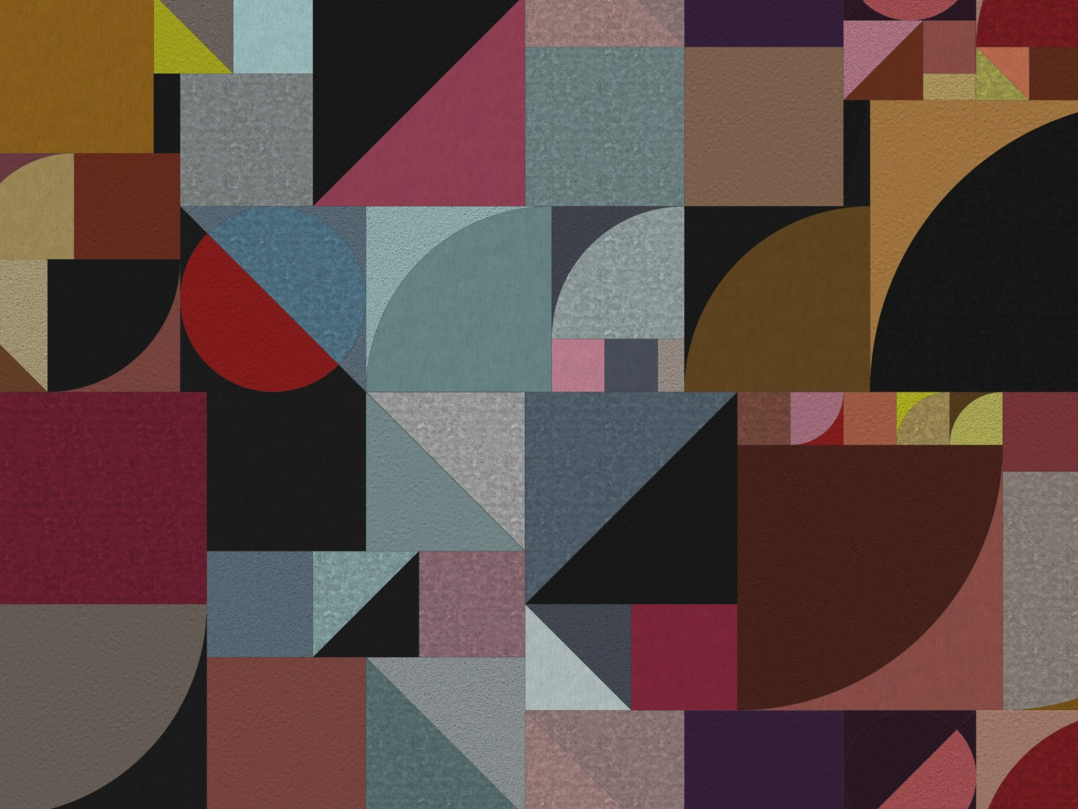 geometrische tapete f r aussen bauhaus by wall dec design. Black Bedroom Furniture Sets. Home Design Ideas