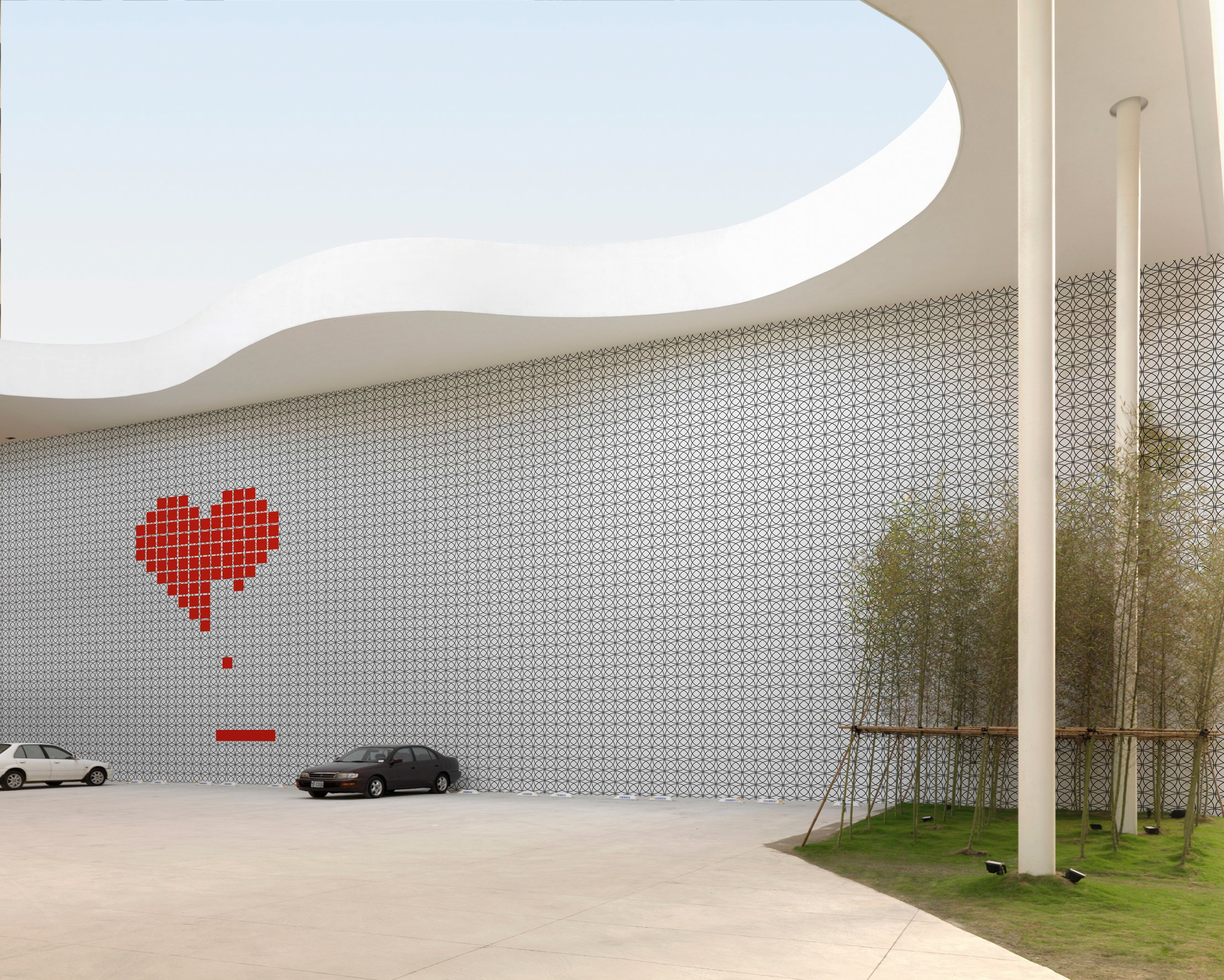 Optical outdoor wallpaper heart game by wall dec design for Wall and deco