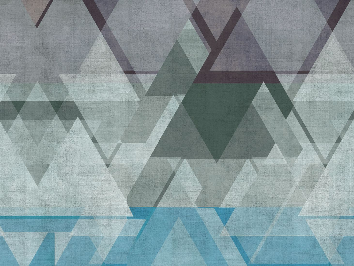Motif geometric bathroom wallpaper DEFRAG ME by Wall&decò