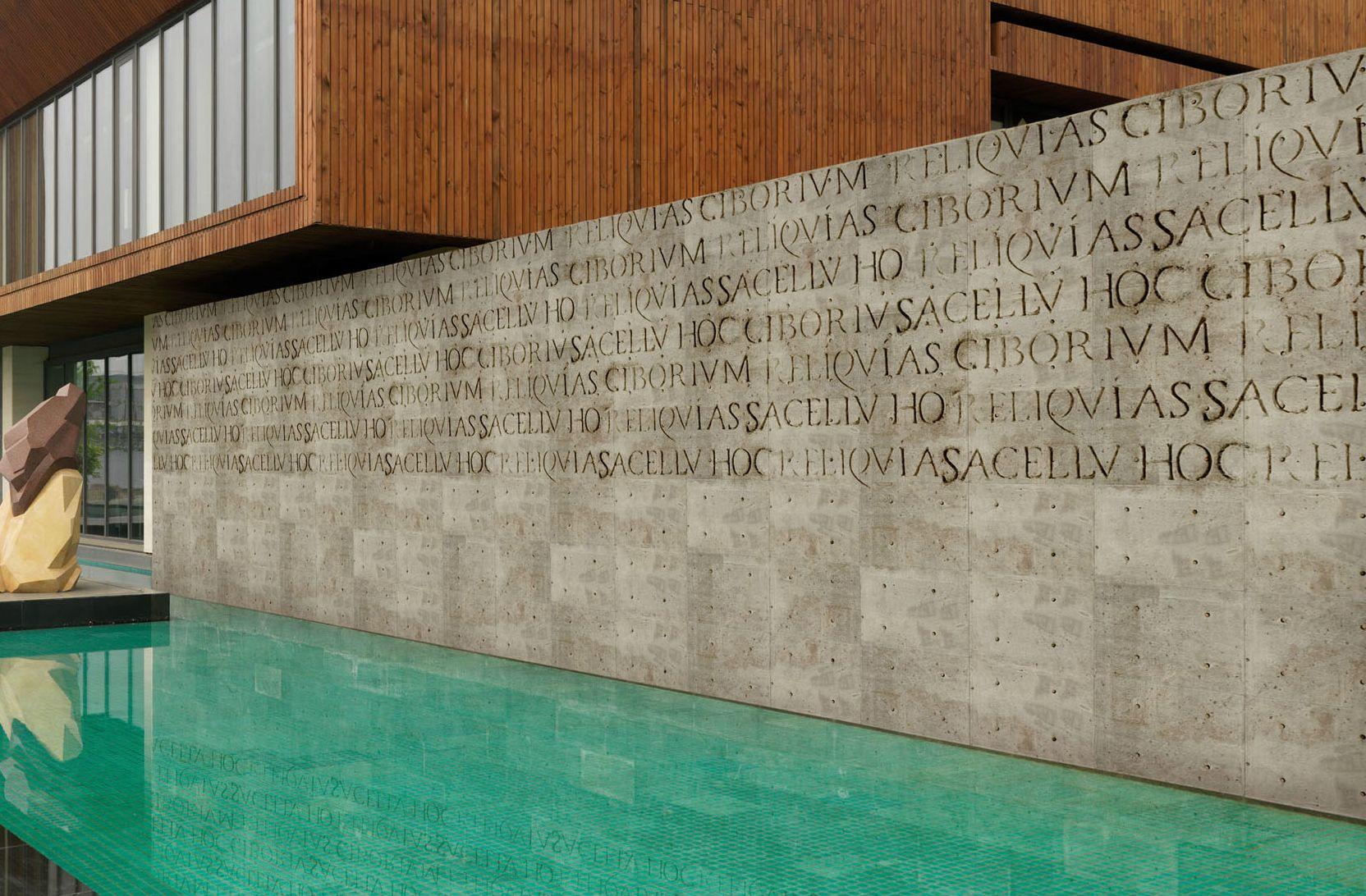 Carta da parati effetto muro per esterni con scritte lorem for Carta parati esterno
