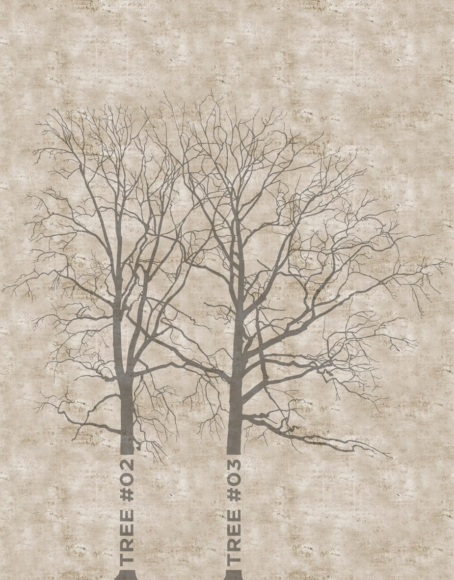 Outdoor wallpaper tree by wall dec design bpm studio for Tree wallpaper for walls