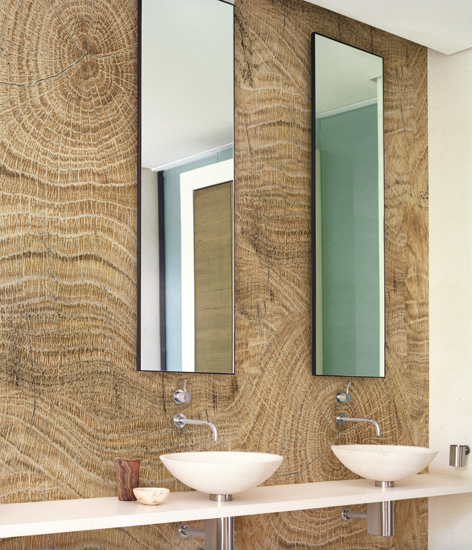 Wood Effect Bathroom Wallpaper LIFE LINES By Wall&decò