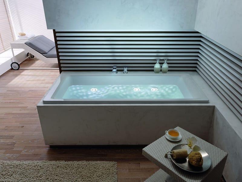 Whirlpool badewanne  Whirlpool Badewanne aus Stahl VIVO TURBO PLUS By Kaldewei Italia