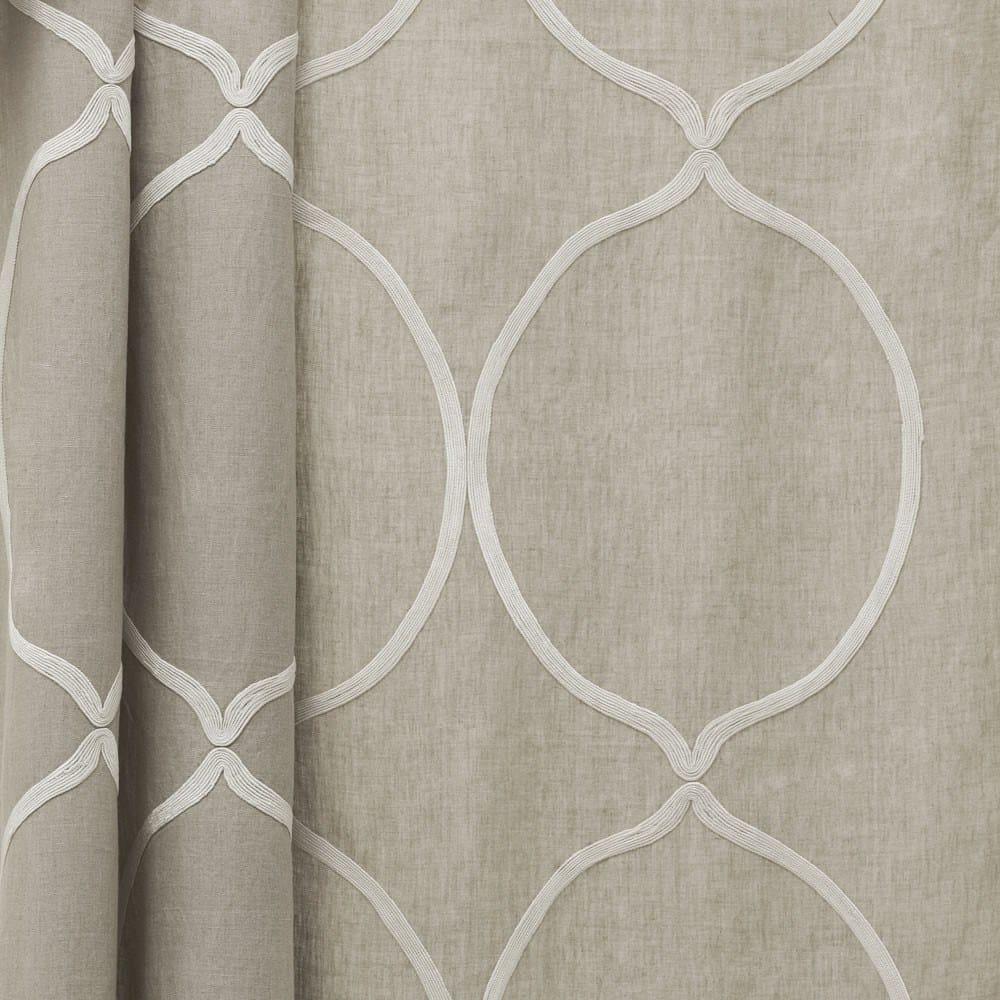 tissu en lin motifs graphiques pour rideaux arles by dedar. Black Bedroom Furniture Sets. Home Design Ideas
