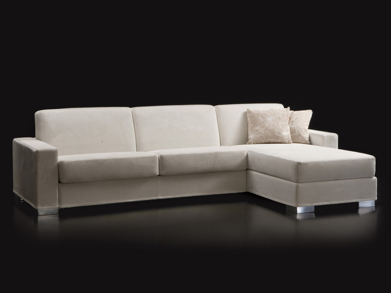 DUKE Sofa with chaise longue by Milano Bedding