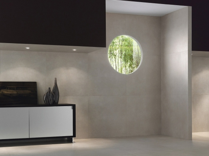 ultra thin wall floor tiles with concrete effect kerlite. Black Bedroom Furniture Sets. Home Design Ideas