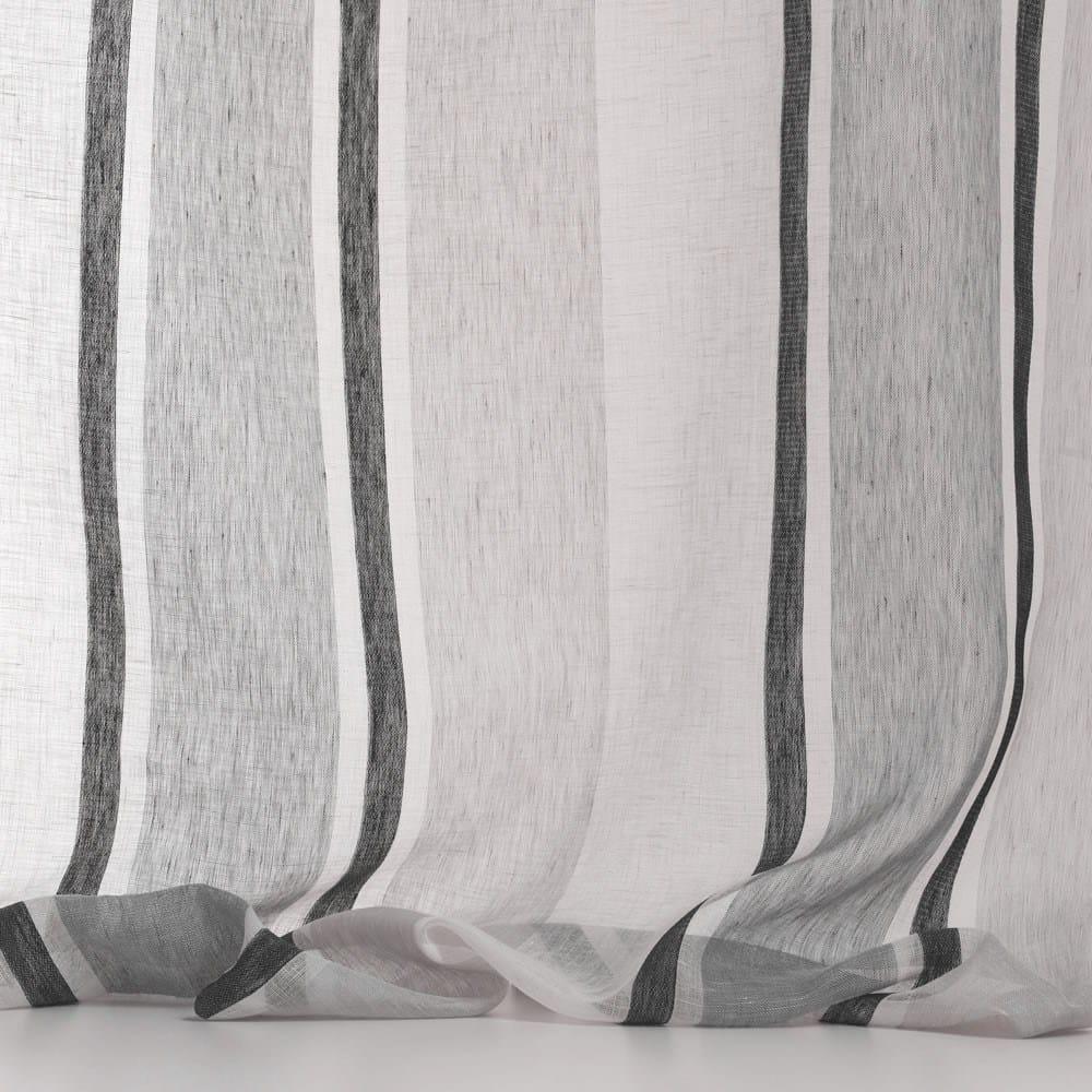 tissu lavable en lin rayures pour rideaux lindos by dedar. Black Bedroom Furniture Sets. Home Design Ideas