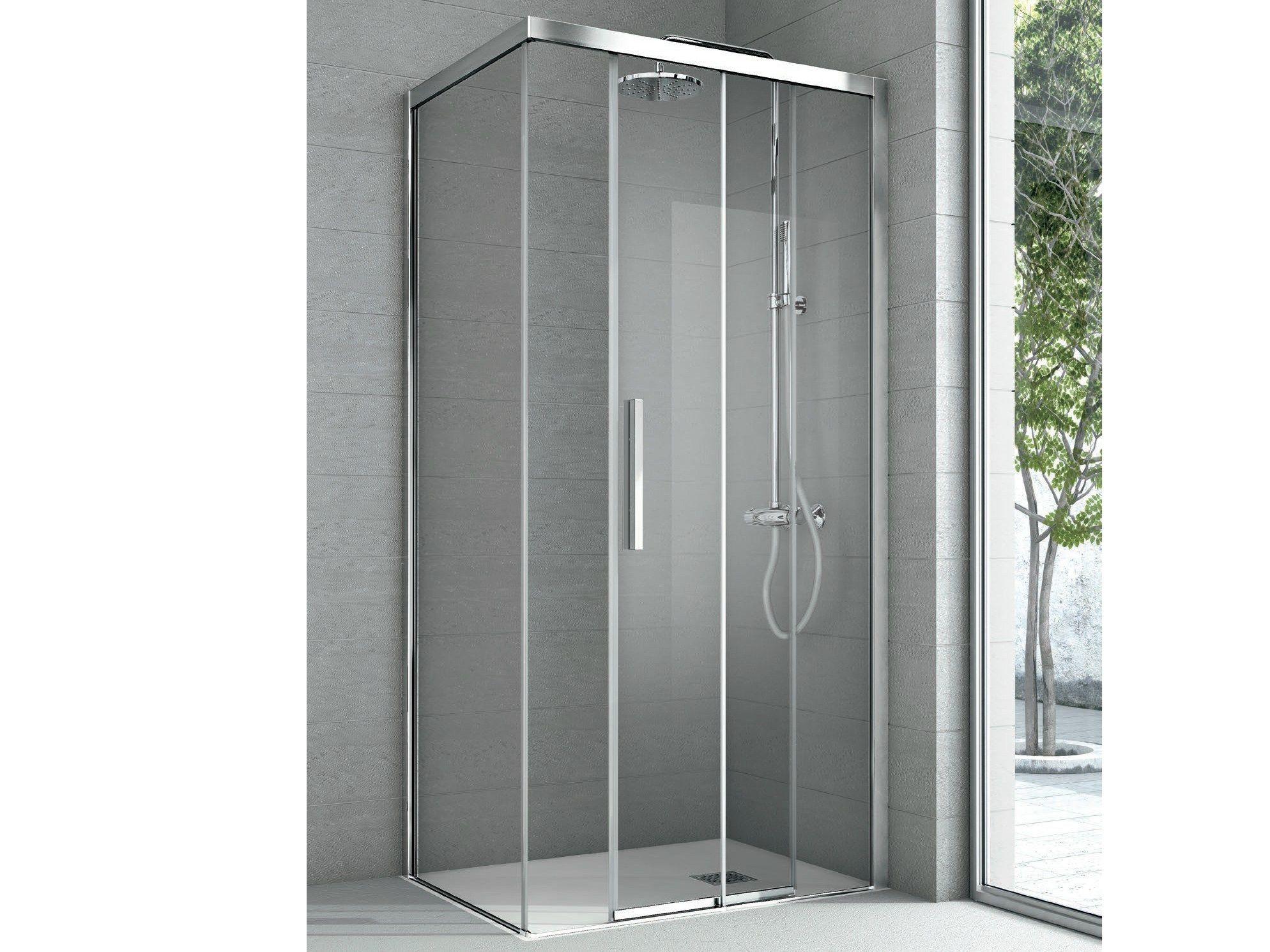 Cabinas de ducha rectangulares baratas for Puertas correderas cristal baratas