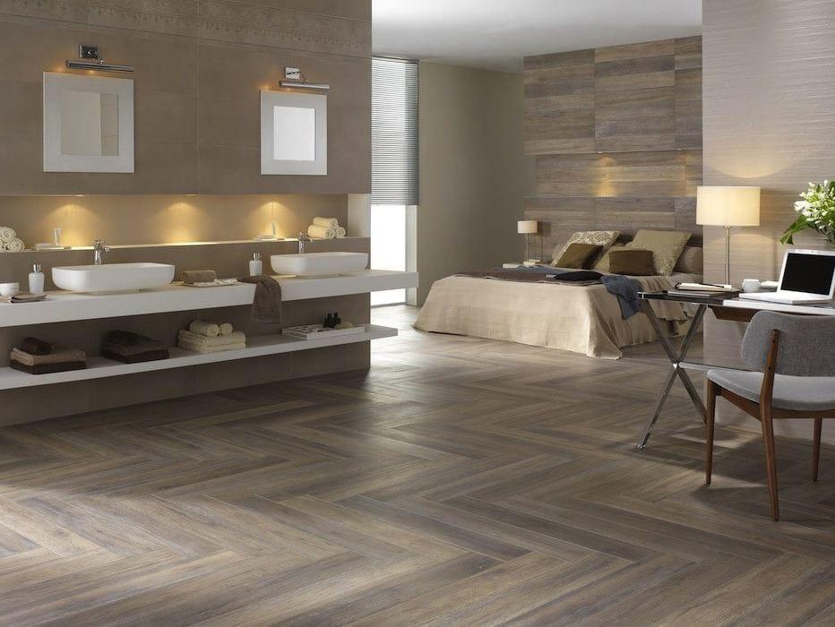 Pavimento rivestimento in gres porcellanato effetto legno - Bagno in gres porcellanato effetto legno ...