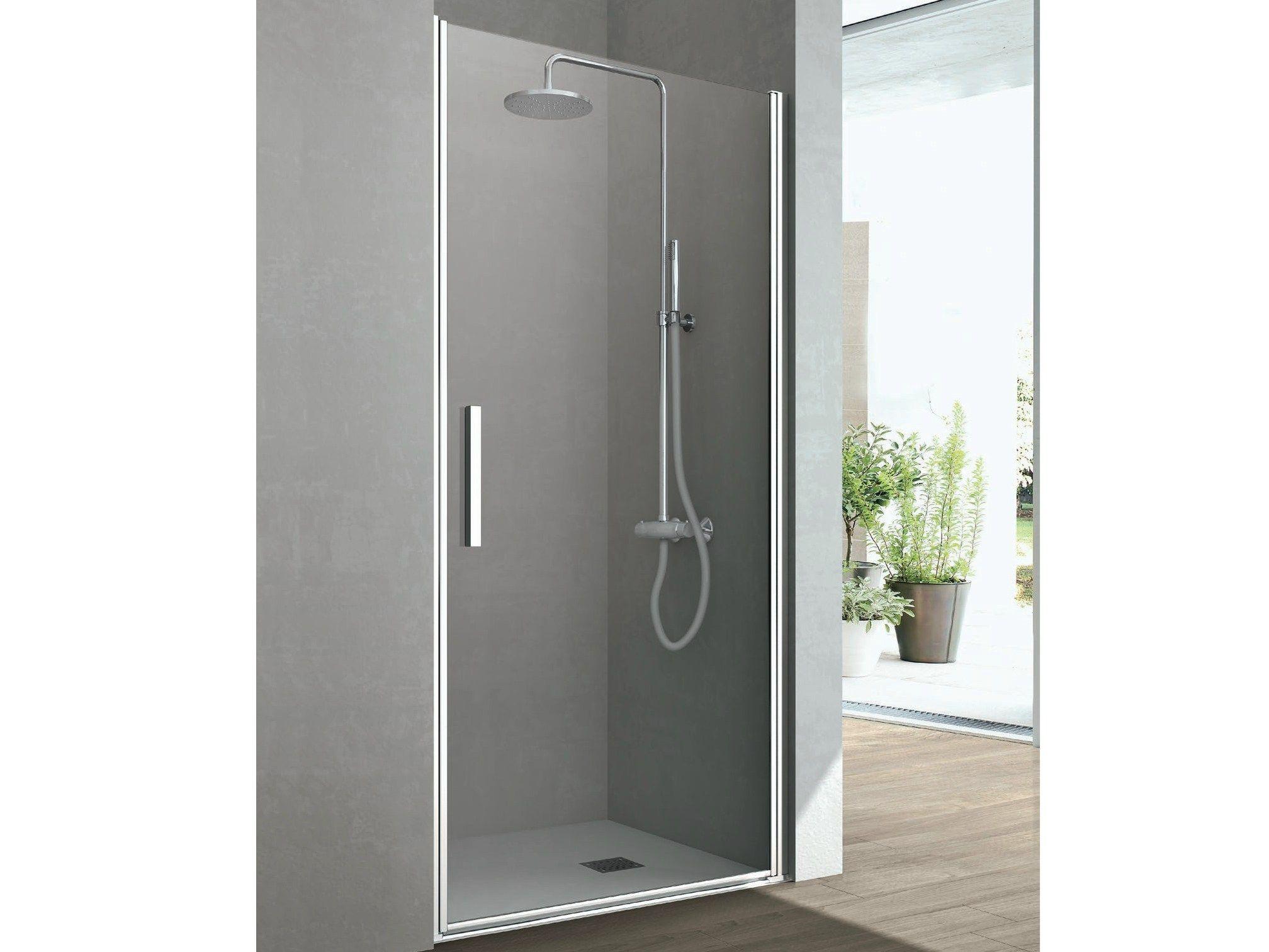 Line box doccia in cristallo by hafro - Box doccia un anta ...